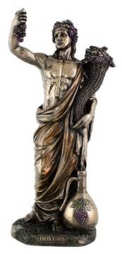 dionysus greek god of wine and festivity statue
