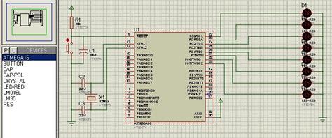 rangkaian dan layout running led rangkaian antarmuka dan program running led led berjalan