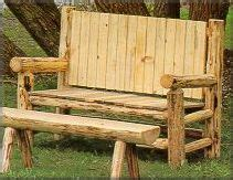 log bench designs plans for log bench one woodworking