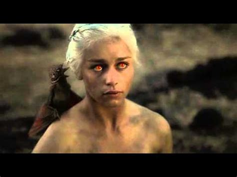 khaleesi bathtub scene daenerys targaryen fire eyes youtube