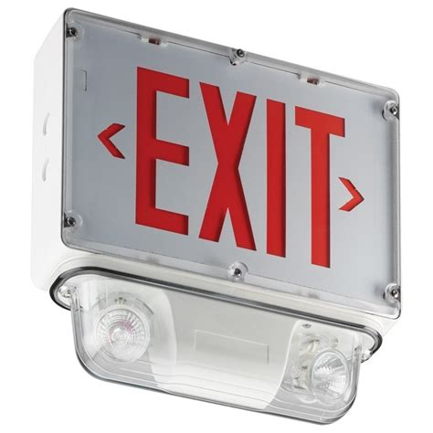 Lu Emergency Combo Bulb nema 4x sirocco series exit sign with integrated emergency lights for location and cold