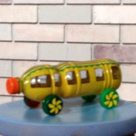 Furniture Made Out Of Recycled Materials by Plastic Bottle Craft Yellow Bus Car Toy My Own