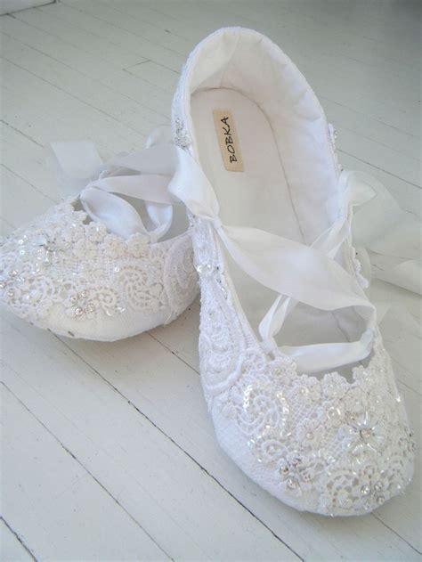 Ballet Wedding Shoes bridal shoes flats wedding ballet shoes white