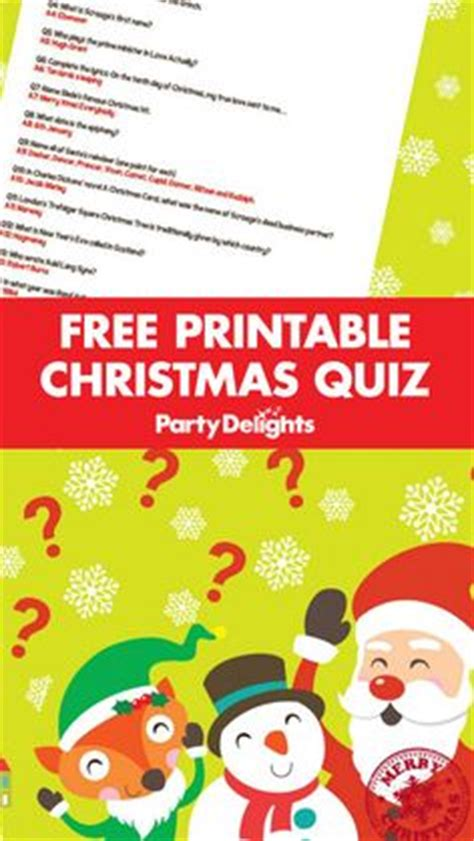 free printable christmas quiz uk 1000 images about party delights blog on pinterest