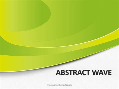 abstract themes for powerpoint 2007 free download free abstract green wave powerpoint template