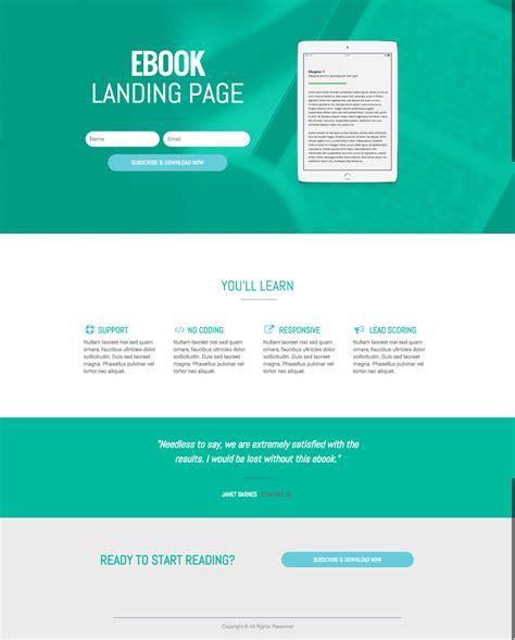 ebook landing page template ebook landing page bookwriter ebook landing page landing