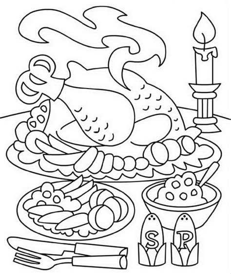 family dinner coloring page christmas family dinner free colouring pages