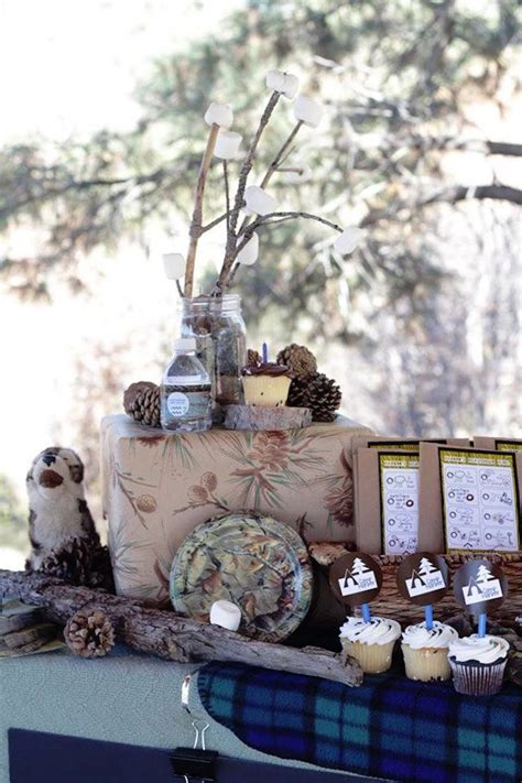 nature themed birthday party kara s party ideas rustic nature hiking birthday party