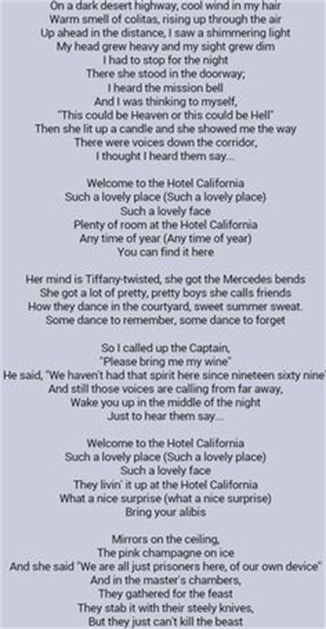 small boat lyrics 1000 ideas about hotel california on pinterest glenn