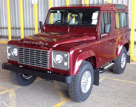 land rover maroon excellent maroon defender 90 with grey trim land rover