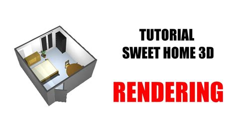 sweet home 3d tutorial design and render a bedroom part rendering sweet home 3d youtube