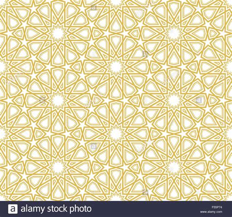 pattern in islamic art vector islamic star pattern golden lines with white background