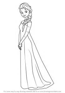 doodle draw how to draw elsa learn how to draw elsa from frozen frozen step by step