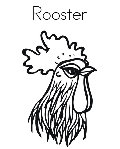 rooster head coloring page drawings of animals heads clipart best