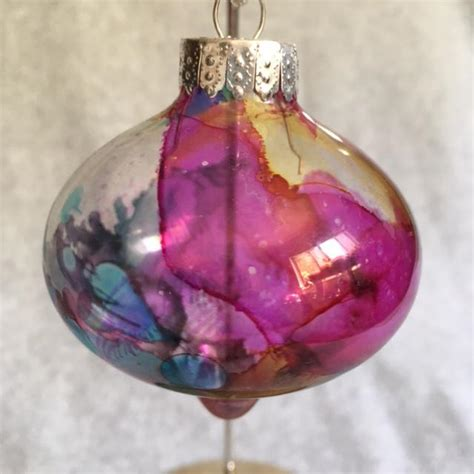 Primary Colors Alcohol Ink Bulb Ornament Free Shipping Ornaments To Color For Primary