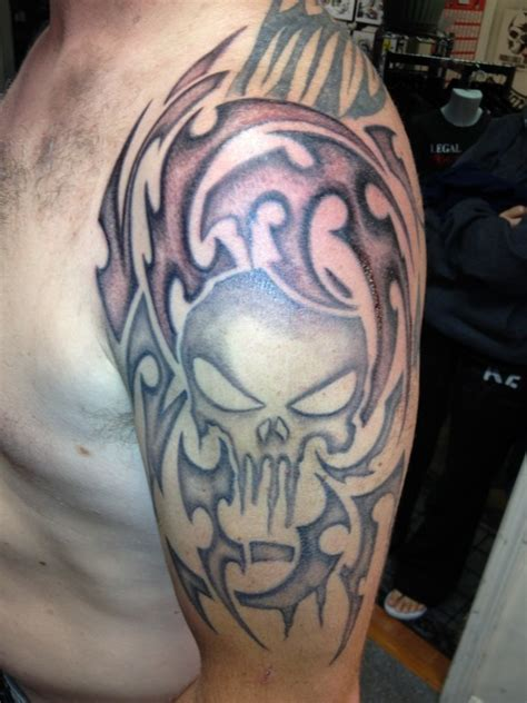 punisher tribal tattoo see it on and instagram