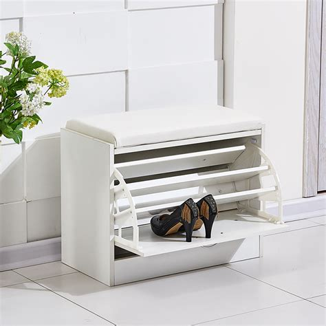 white entryway bench with shoe storage new white shoe storage cabinet rack closet pu seat bench