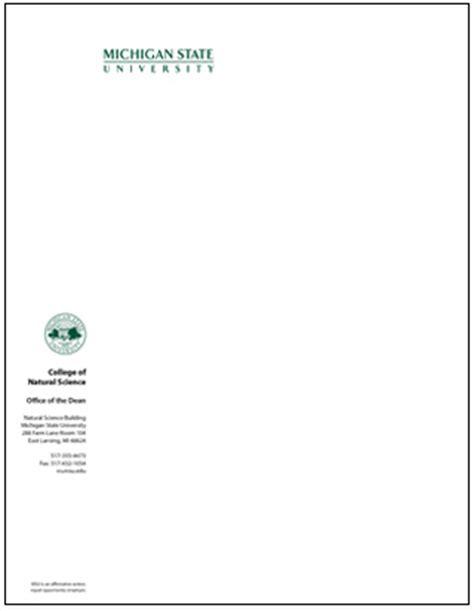 msu business card template stationery