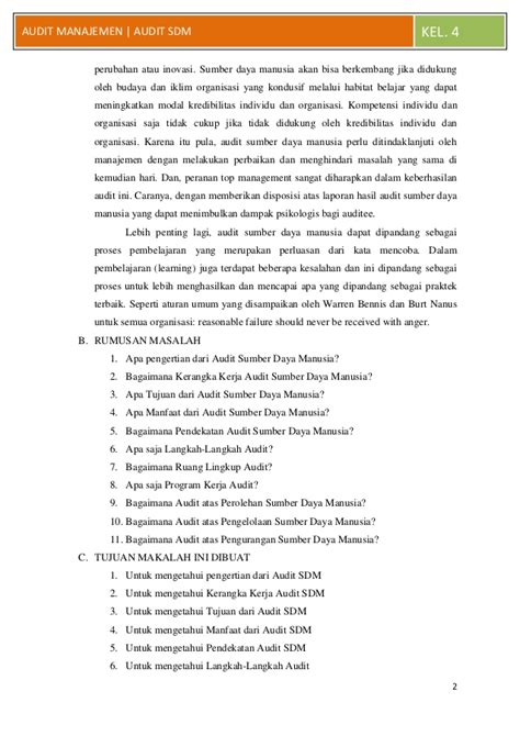 Manajemen Sumber Daya Manusia Perspektif Integratif Meldana makalah audit manajemen audit sumber daya manusia jiantari c 301 09