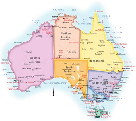 map of australia with states australia maps