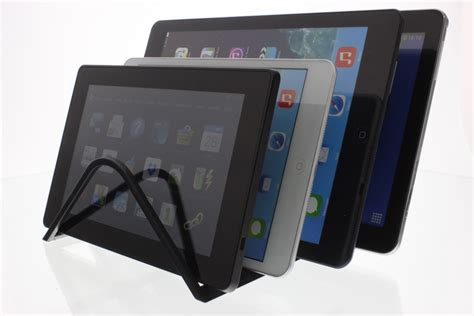 universal 4 tablet charging organizer rack desktop stand holder for and android tablets