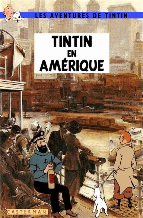 Poster Tintin Tintin En Amerique 40x60cm 1000 images about tintin on cover pages album and souvenirs