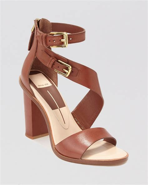 heeled sandal lyst dolce vita sandals oriana high heel in brown