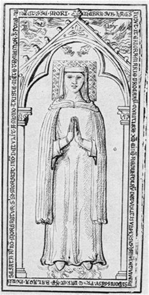 tufts and pompadour fillet and a rolled veil marie de bourbon 1274 france