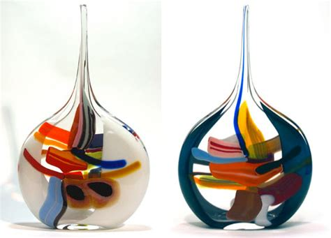 Funky Home Decor Ideas 187 Multi Colored Glass Vases 4 At In Seven Colors