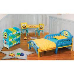 Spongebob Toddler Bed Set Nickelodeon Spongebob Room In A Box Bundle Walmart