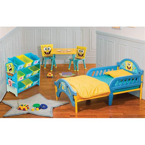 spongebob beds nickelodeon spongebob room in a box bundle walmart com