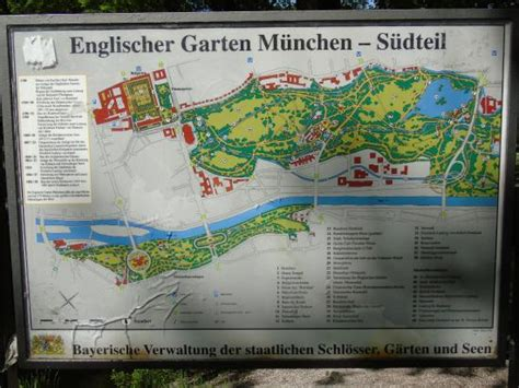 Englischer Garten Munich Map by Overview Of The Garden Photo De Englischer