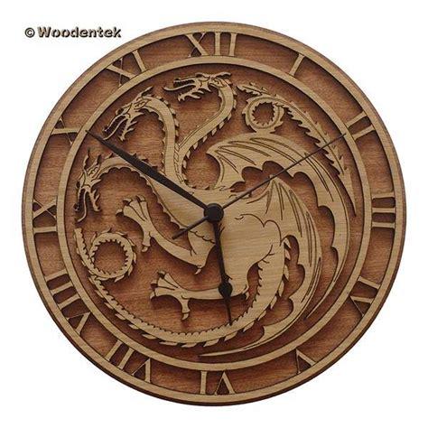 Handmade Wall Clocks - handmade of thrones wood wall clocks gadgetsin