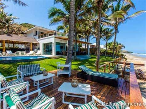 casas en la playa para alquilar mancora casas de playa en alquiler renta y bungalows