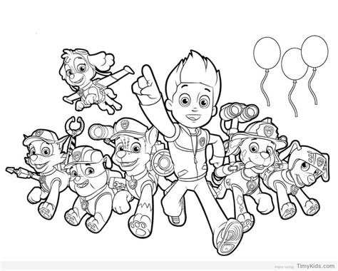 coloring pages for paw patrol paw patrol coloring pages timykids