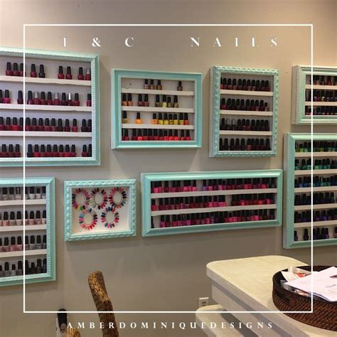 layout of lynnhaven mall picture frames converted to a nail polish display rack for