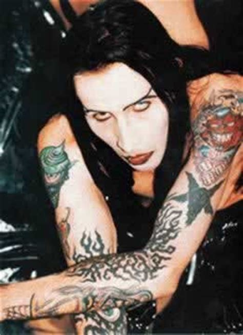 marilyn manson tattoo photos pics pictures of his tattoos
