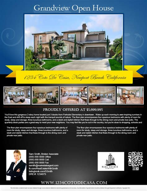 open house flyer template sample format