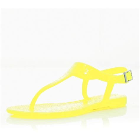 neon yellow jelly sandals river island bright yellow jelly sandals