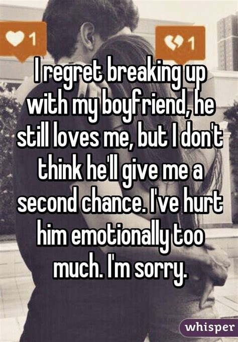 But I Him 18 confess why they regret their breakups