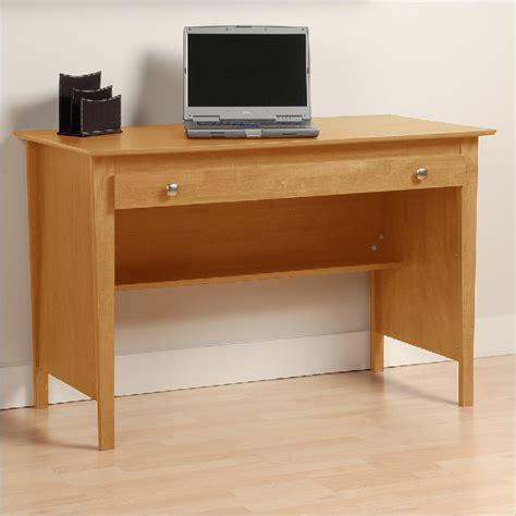 prepac sonoma small wood computer desk in maple