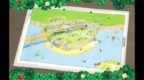 town layout guide new leaf animal crossing 3ds town map youtube