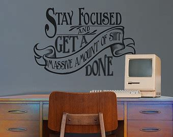 motivational quote wall decal office vinyl sticker