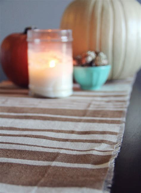 Diy Table Runner by Diy No Sew Fall Table Runner Poppytalk
