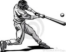 baseball batter hitting pitch vector image stock photo