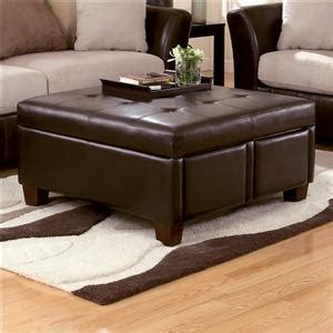 durahide bicast brown square tufted faux leather ottoman