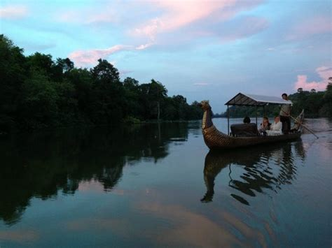 gondola boat siem reap angkor gondola boat at south gate of angkor thom picture
