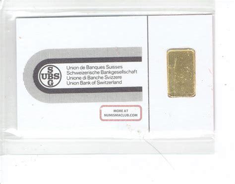 ubs chiasso ubs swiss bank argor s a chiasso gold bar 1 gram 999