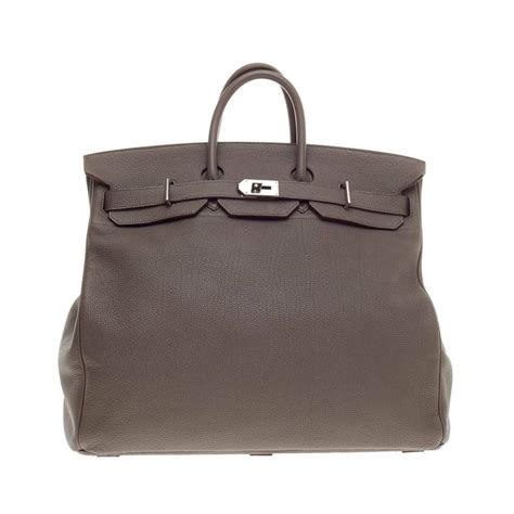 Features Oversizes Birkin by Hermes Birkin Hac Etain Togo With Palladium Hardware 50 At