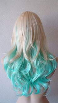 Summer special blonde mint teal color from kekeshop on etsy
